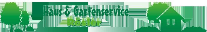 Logo Haus und Gartenservice Rösler